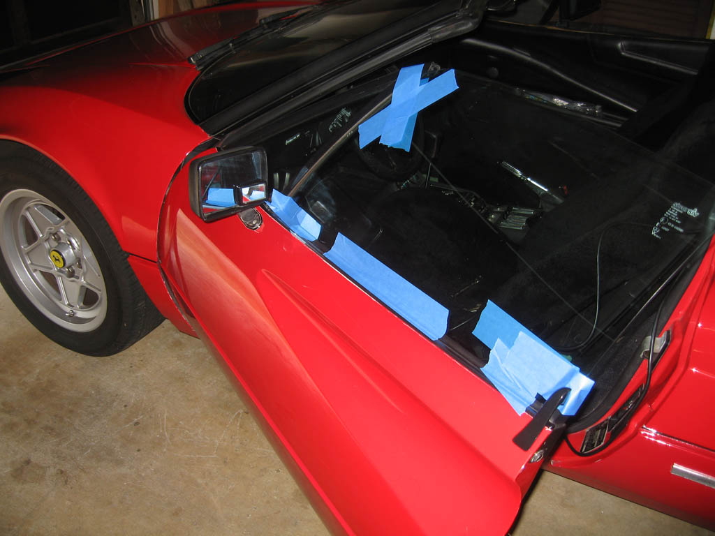 Power Window Service Ferrari 308 1980 Gtb Engine Diagram The Should Now Move Up And Down Freely Hold In Its Fully Position Tape It Place Make Sure Wont Fall